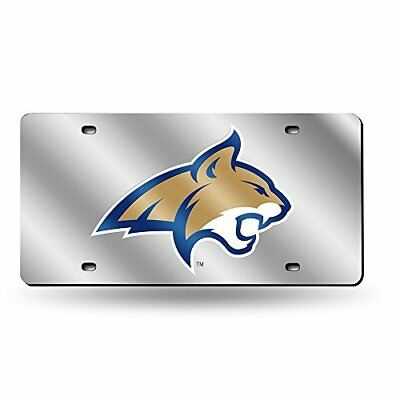 NCAA Montana State Bobcats Laser Cut License Plate, Sil