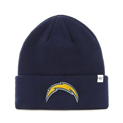 NFL San Diego Chargers '47 Raised Cuff Knit Hat, Navy,