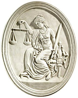 Design Toscano Old Bailey Courthouse Lady Justice Wall