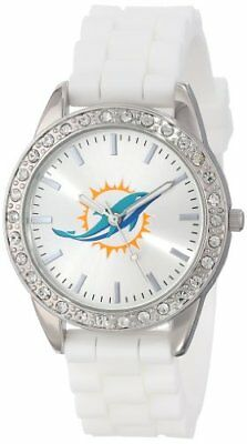 """Game Time Women's NFL-FRO-MIA """"Frost"""" Watch - Miami Dol"""