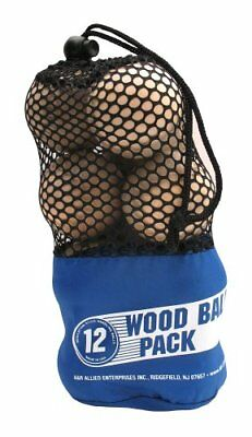 A&R Sports Wood Ball (Pack of 12)