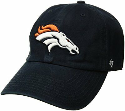 NFL Denver Broncos Clean Up Adjustable Hat, Navy, One S