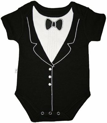 Funny Baby One-Piece Bodysuit, Tuxedo (6-9 months), Fre