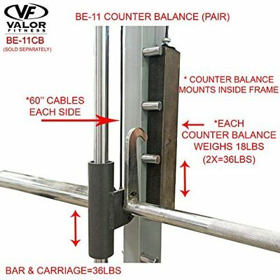 Valor Fitness Counter Balance Set for Smith Machine BE-