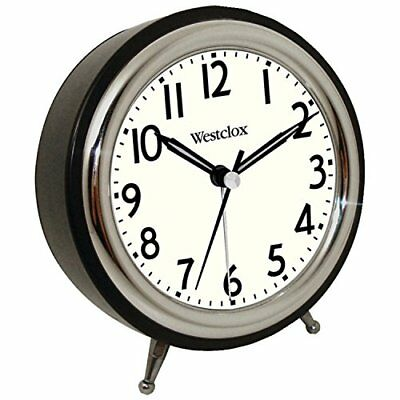 Westclox 75032 Classic Retro Alarm Clock with Chrome Be