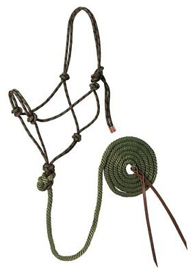 Weaver Leather Diamond Braid Rope Halter and Lead, Hunt