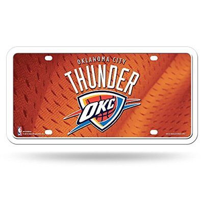 NBA Oklahoma City Thunder Metal Auto Tag, Orange