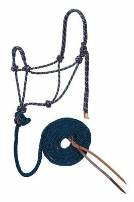 Weaver Leather Diamond Braid Rope Halter and Lead, Navy