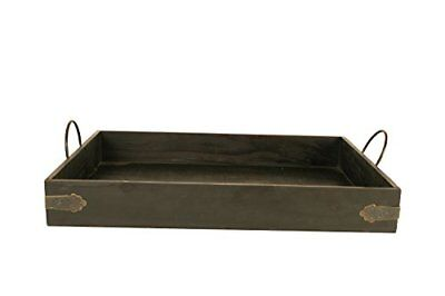 """Wald Imports Brown Wood 22"""" Decorative Tray"""
