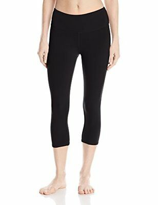 Alo Yoga Women's Airbrushed Capri Solid, Black, Small