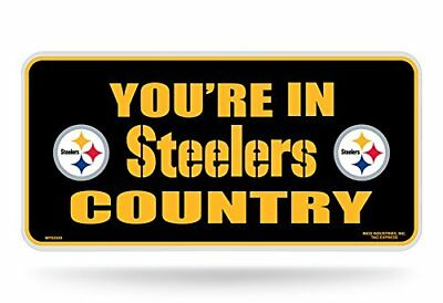 "NFL Pittsburgh Steelers ""Steelers country"" Metal Auto T"
