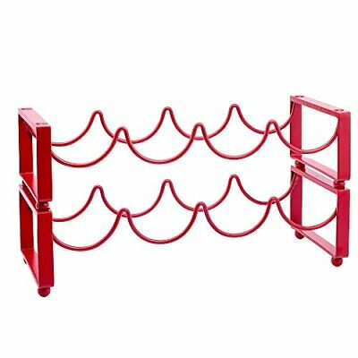 Old Dutch Stackable Wine Rack, Red