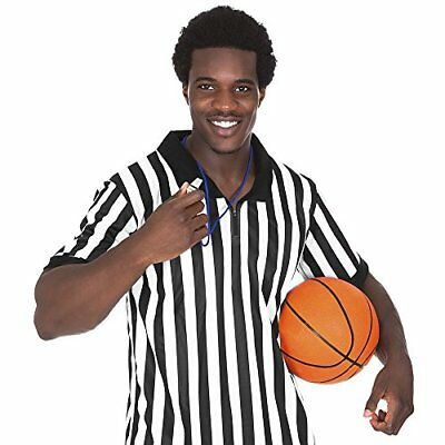 Crown Sporting Goods Men's Official Striped Referee/Ump