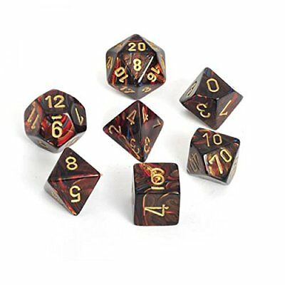 Chessex Dice: Polyhedral 7-Die Scarab Dice Set - Blue B