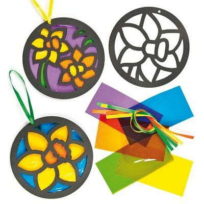 Stained Glass Daffodil Flower Decorations for Children