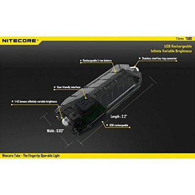NiteCore Tube Keychain Light T Series 45 Lumen Multi Co