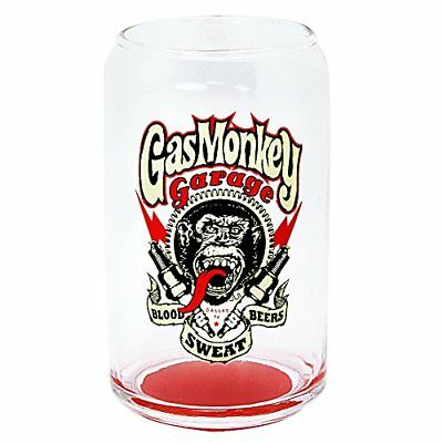 Gas Monkey Garage Spark Plug Can Glass, 12 oz., Clear