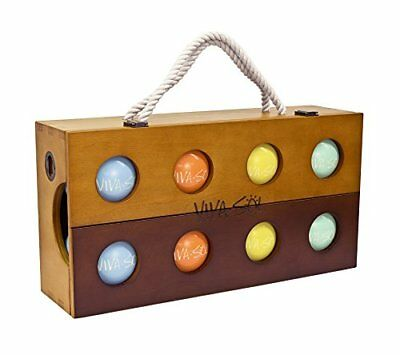 Viva Sol Premium Bocce Ball Set with Wooden Case