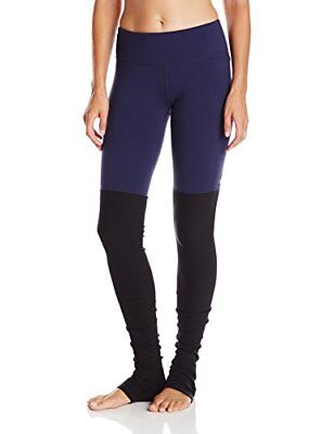 Alo Yoga Women's Goddess Ribbed Legging, Rich Navy/Blac