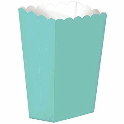 Fun Party Small Popcorn Favour Boxes, Robin's-egg Blue,