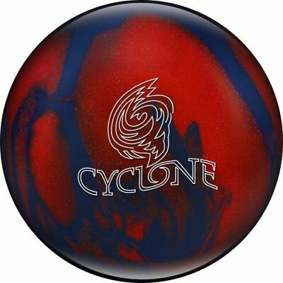 Ebonite Cyclone Bowling Ball, Red/Blue Sparkle, 11 lb