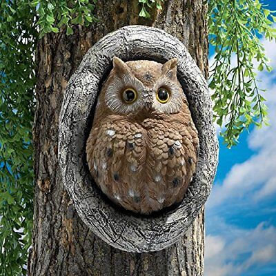 Design Toscano Knothole Owl Tree Sculpture