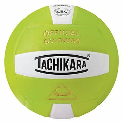 Tachikara Sensi-Tec Composite Volleyball, Lime Green/Wh