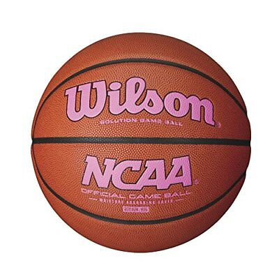 Wilson NCAA Intermediate Size Game Basketball with Pink