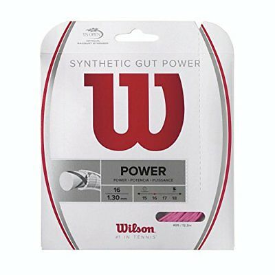 Wilson Synthetic Gut Power Tennis String, Pink, 16-Gaug