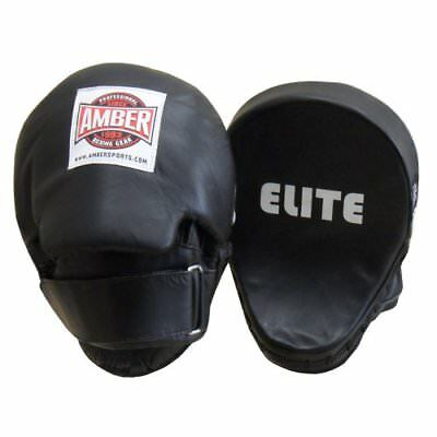 Amber Elite Fight Gear Curved Punch Mitts with Tap Pad