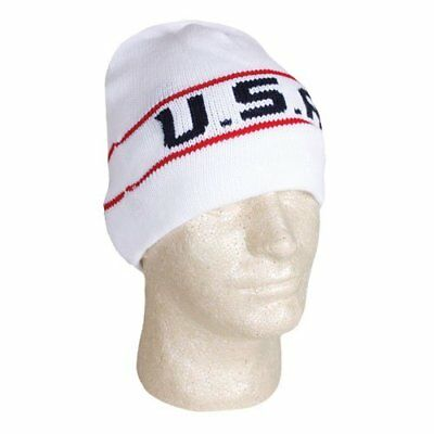 Fox Outdoor Products USA Collection Knit Beanie, White