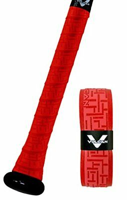 Vulcan Standard Bat Grip, Bright Red, 1.75mm