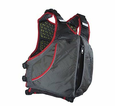 Extrasport Men's Evolve Life Jacket, Gray/Charcoal/Red,