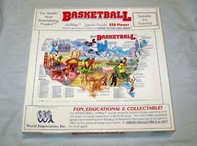 1992 World Impressions Basketball Artmap Jigsaw Puzzle