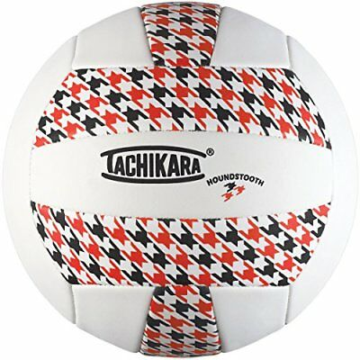 Tachikara SofTec Houndstooth Volleyball, Scarlet/White/