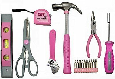 Illinois Tools Ladies Pink 9 Piece Tool Set with Zipper