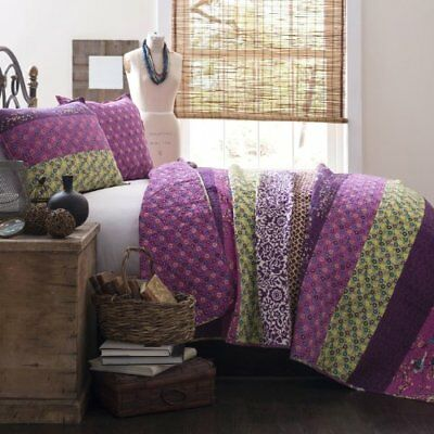 Lush Decor Royal Empire 3-Piece Quilt Set, King, Plum