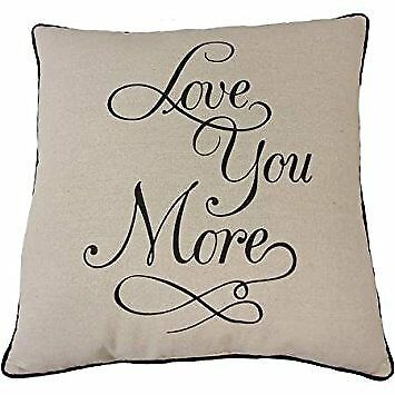Mainstays Love You More Pillow (Black)