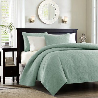 Madison Park Quebec Dusty Pale Seafoam 3-Piece Quilted