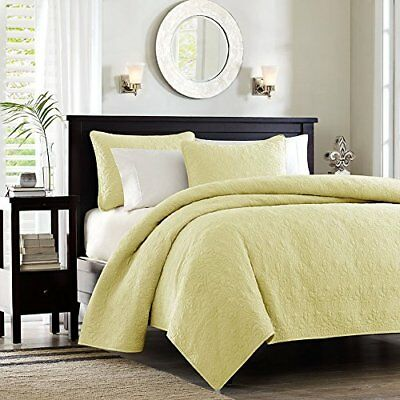 Madison Park Quebec Dusty Pale Yellow 3-Piece Quilted K