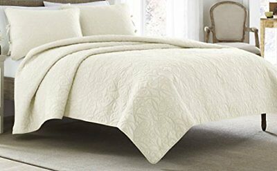 Laura Ashley Felicity Quilt Set, Ivory, Twin