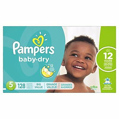 Pampers Baby Dry Diapers, Size 5, 128 Count