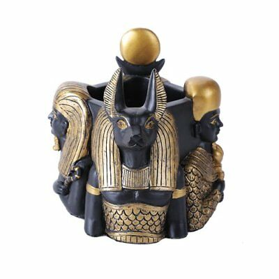 5 Inches Ancient Egyptian Gods Pen Holder Statue Figuri