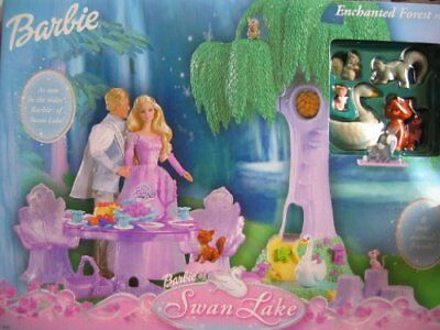 Barbie Swan Lake ENCHANTED FOREST Playset w 6 Animal Fr