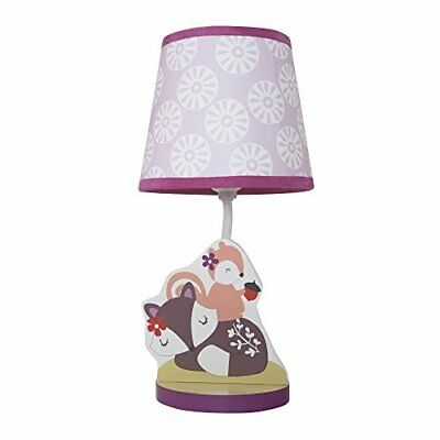 Bedtime Originals Lavender Woods Lamp with Shade and Bu
