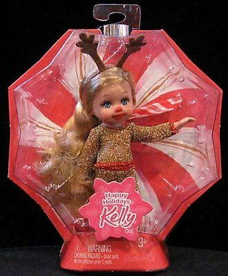 Barbie Happy Holidays Kelly Doll in Reindeer Outfit Dat