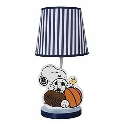 Bedtime Originals Snoopy Sports Lamp with Shade and Bul