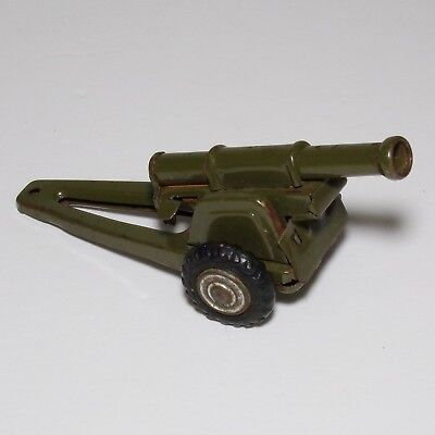 "Vintage Tin METAL Cannon with lever mechanism 4"" inch long from Japan 1960s!"