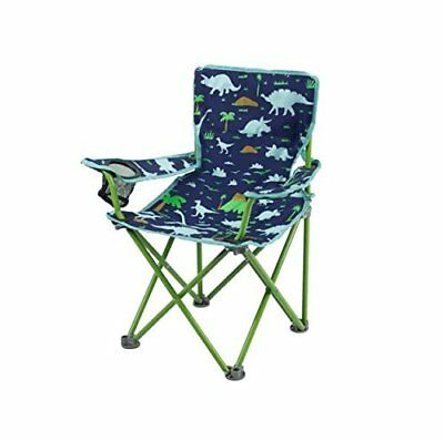 Blue and Green Folding Chair with Dinosaurs (1, Navy)