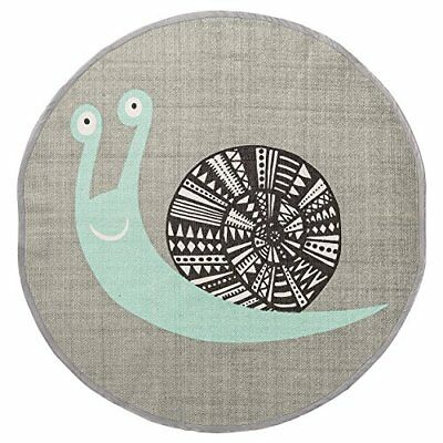 Bloomingville Cotton Rug with Snail, Grey